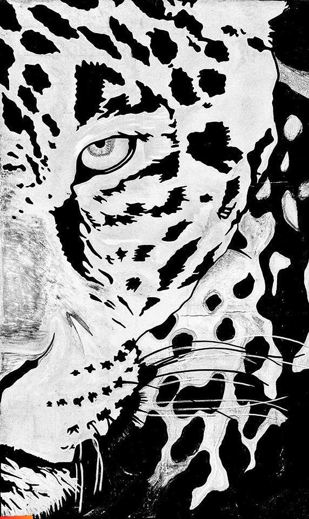 Jaguar Face Mural