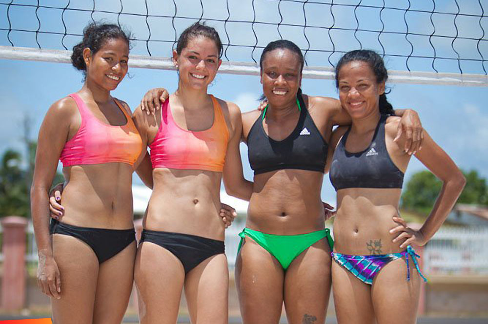 Central American Beach Volleyball Championships Warmup-5027