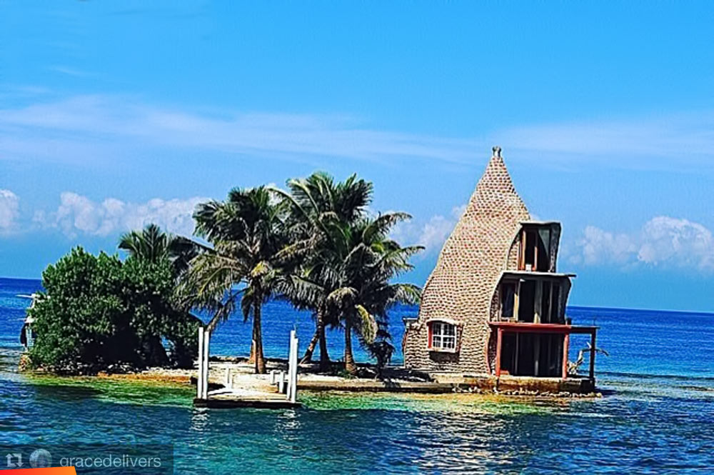 A House Built Of Conch Shells On One Of The Small Southern Cayes - Conch-shell-house