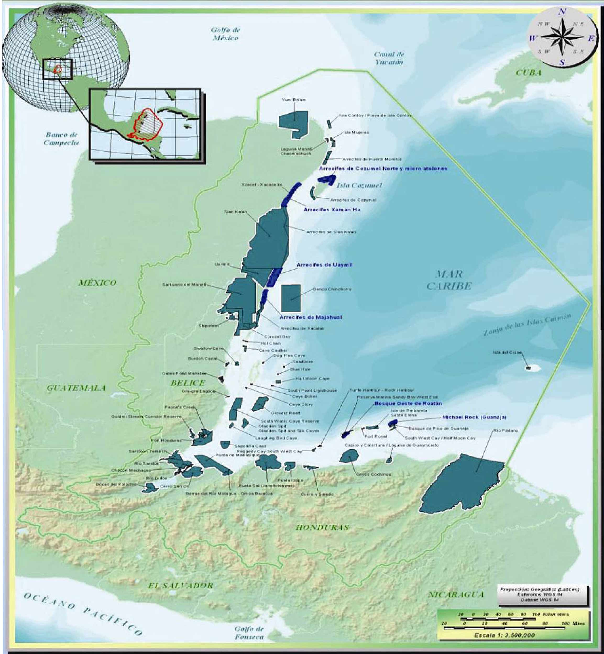 Marine Protected Areas, Mexico, Belize, Honduras and Guatemala