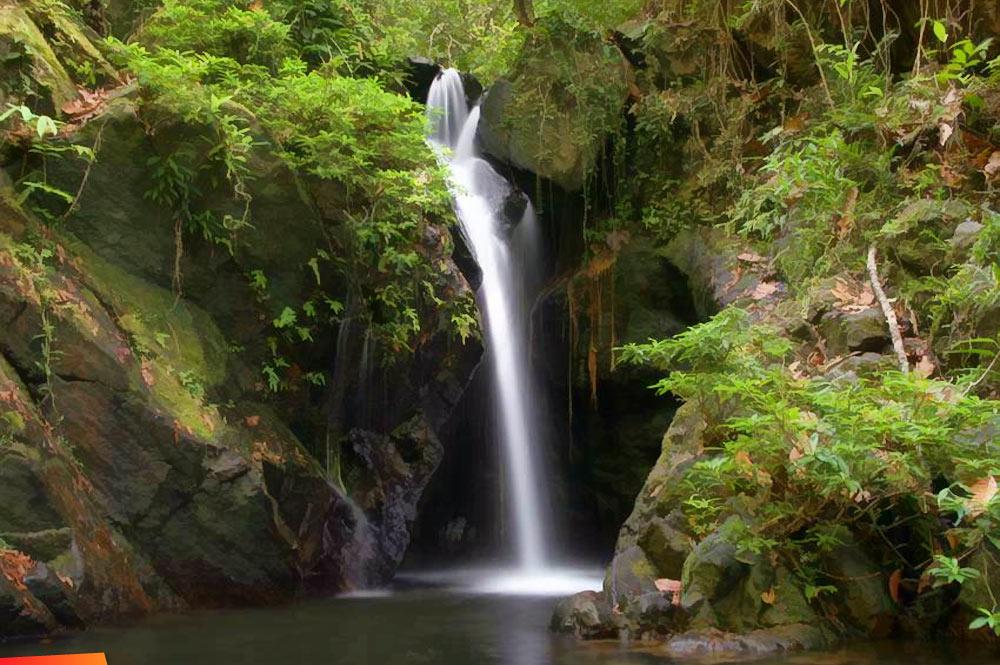 Waterfall On The Tiger Ferns Trail At Cockscomb Basin